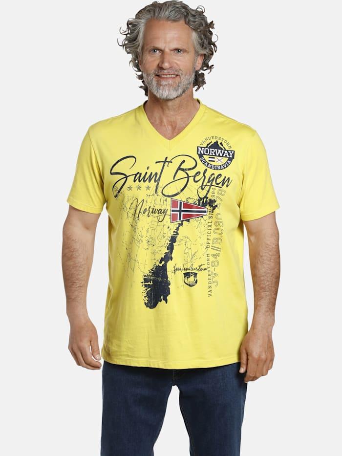 Jan Vanderstorm Jan Vanderstorm T-Shirt OLOV, gelb
