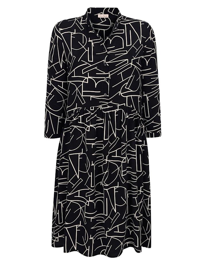 Kleid mit Allover Buchstaben-Print