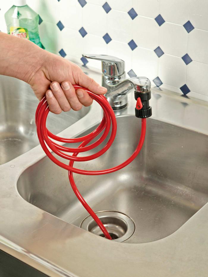 Déboucheur avec valve anti-retour, Rouge