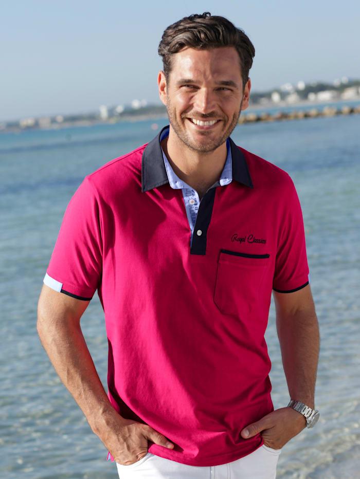 BABISTA Poloshirt met overhemdkraag, Fuchsia