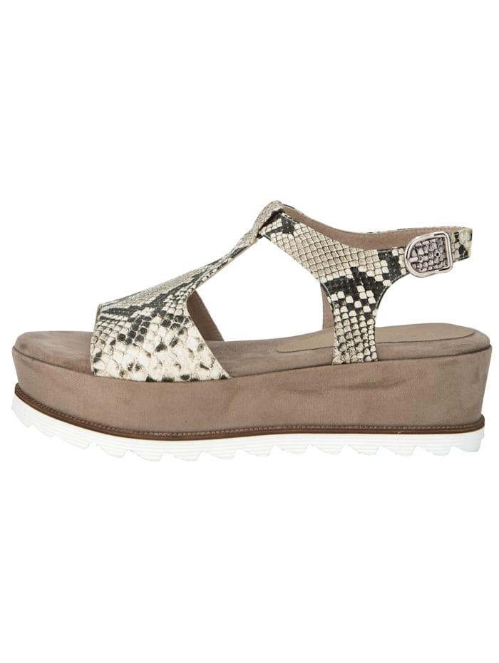 Sandaaltje met trendy slangenprint