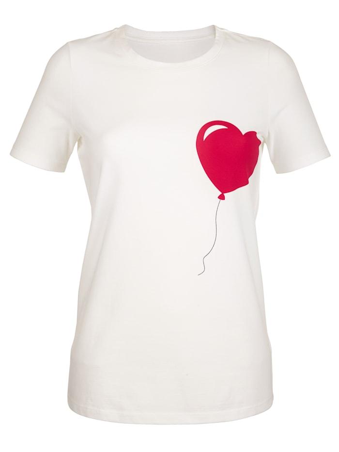 Shirt met hartjesprint