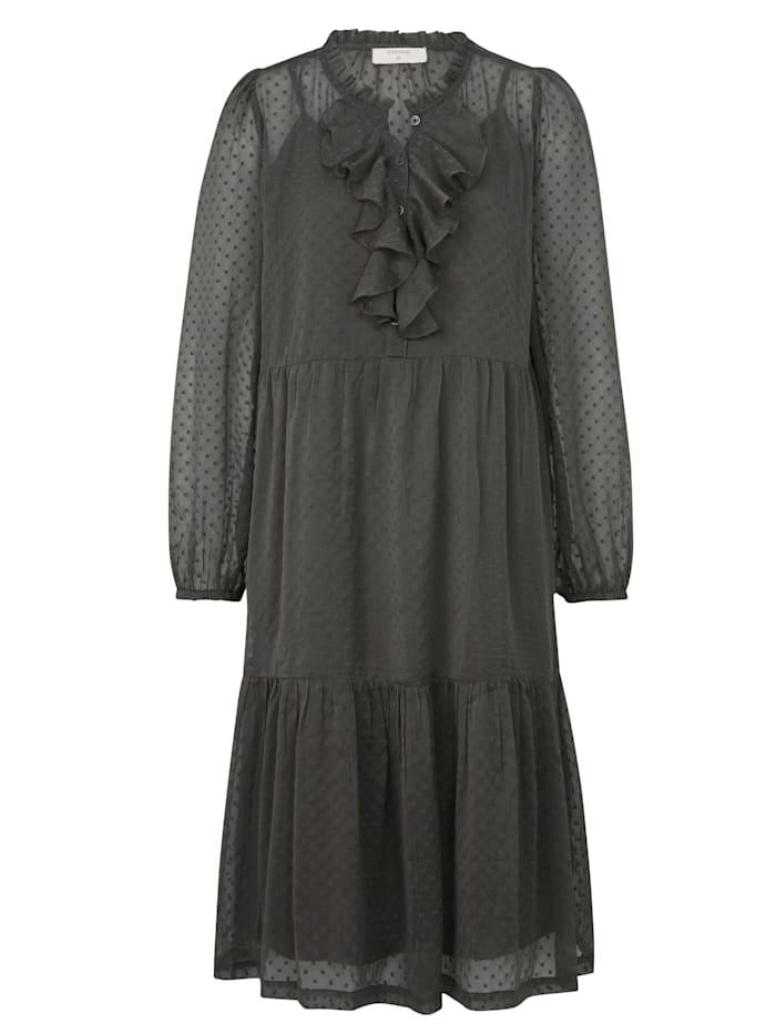 Cream Kleid, Grau