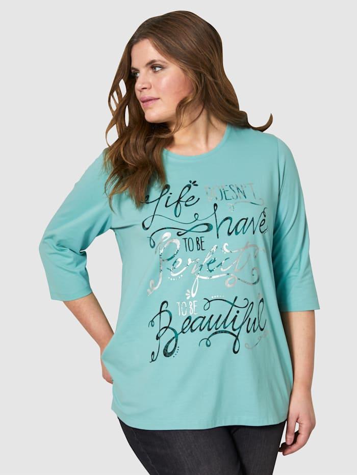 Janet & Joyce Shirt mit Druck, Eisblau