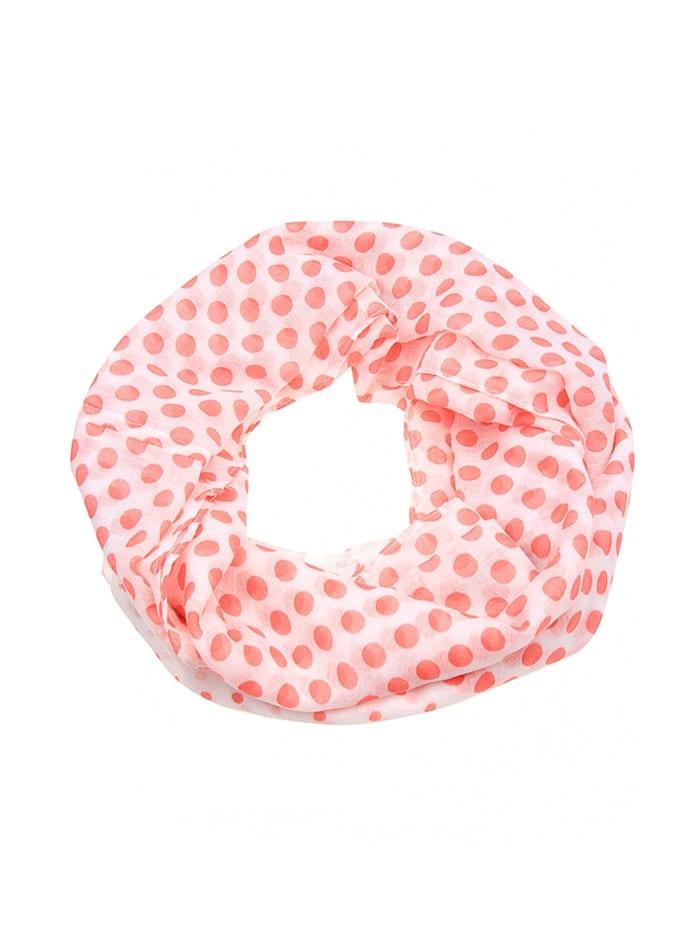 Leslii Loop mit Punkte-Mix, weiß-rot-grau