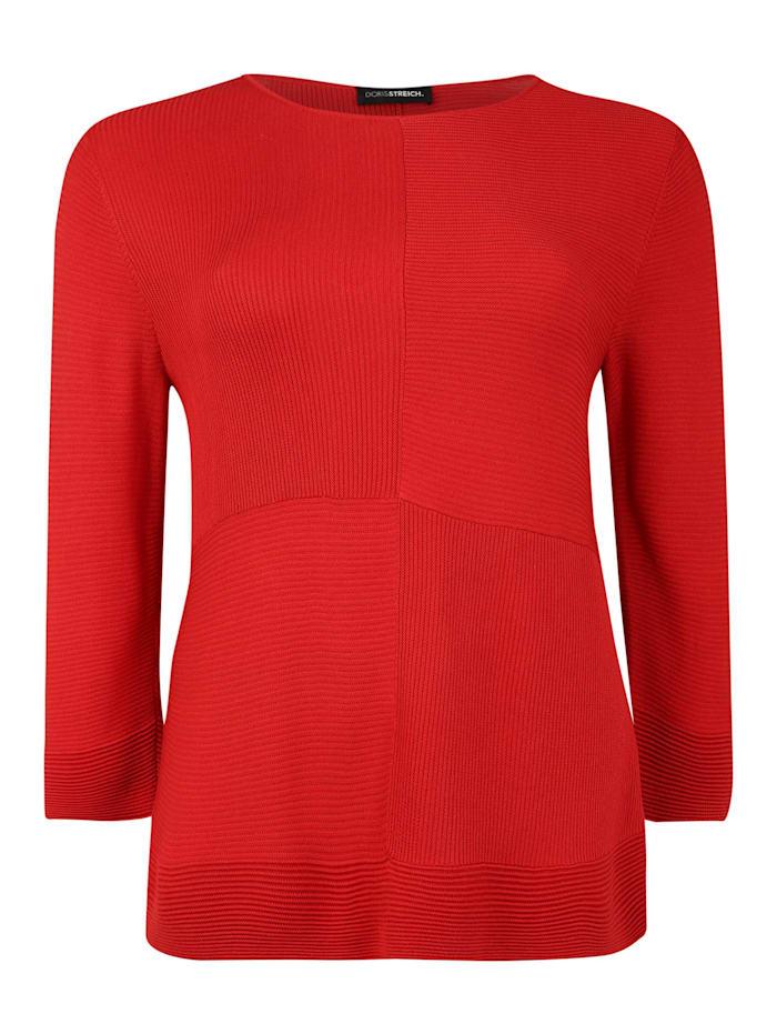 Doris Streich Pullover mit 3/4-Arm, rot