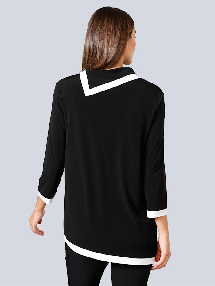 Shirt mit kontrastfarbigen Blenden