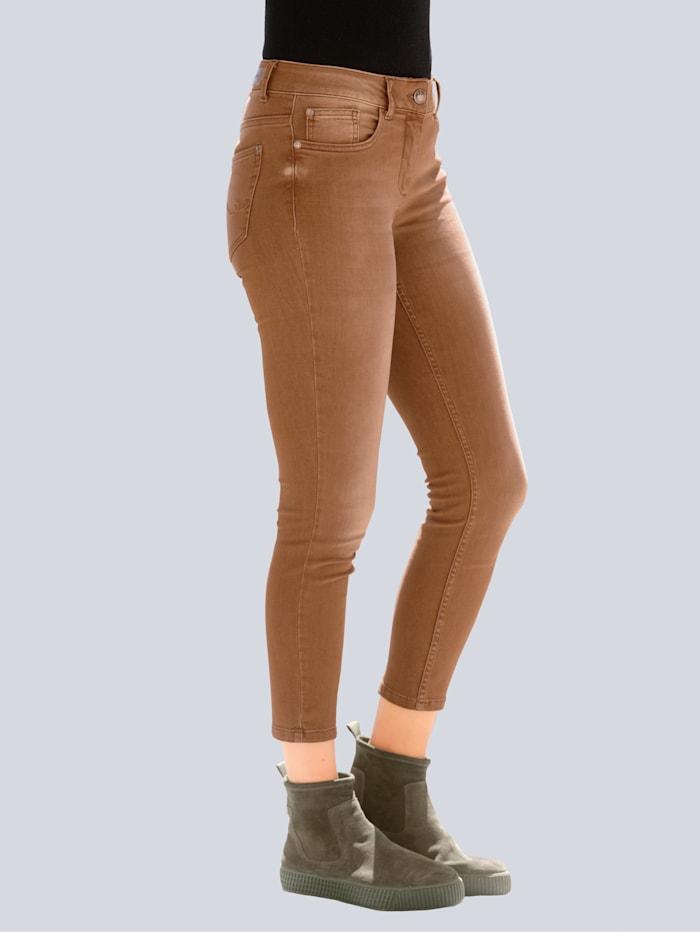 Alba Moda Jeans aus gefärbtem Denim, Cognac