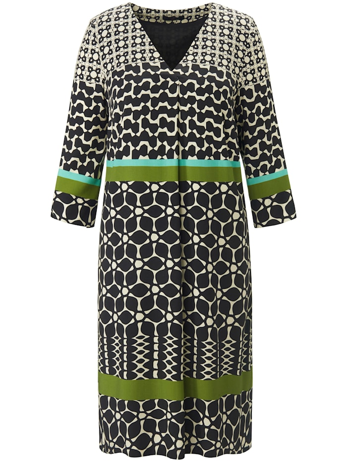 Emilia Lay Abendkleid Kleid mit 3/4-Arm, schwarz/multicolor