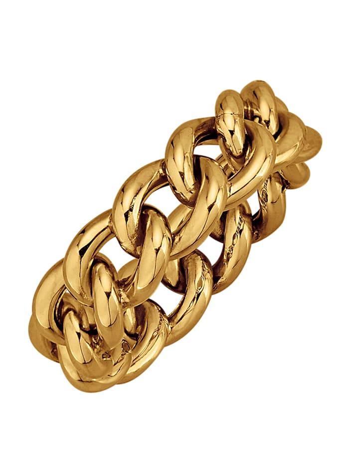 Ketten-Ring in Gelbgold 375, Gelbgoldfarben