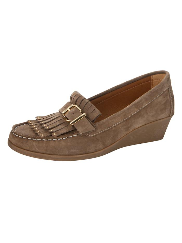 Filipe Shoes Keilpumps in Mokassin-Optik, Taupe