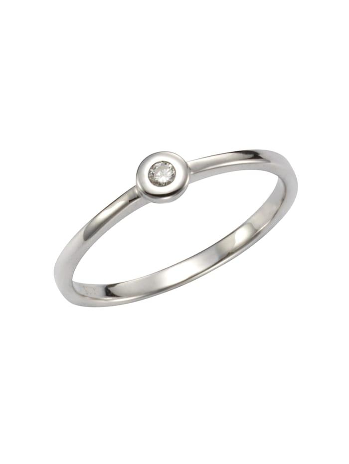 Orolino Ring 585/- Gold Brillant weiß Brillant Glänzend 0.05 Karat 585/- Gold, weiß