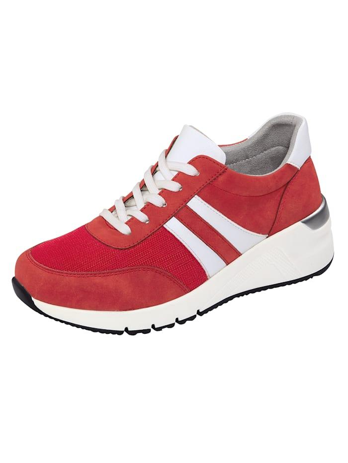 Liva Loop Sneakers à empiècements en mesh, Rouge