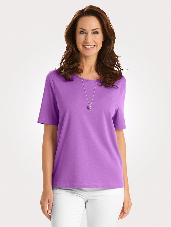 MONA T-shirt en coton pima, Lilas