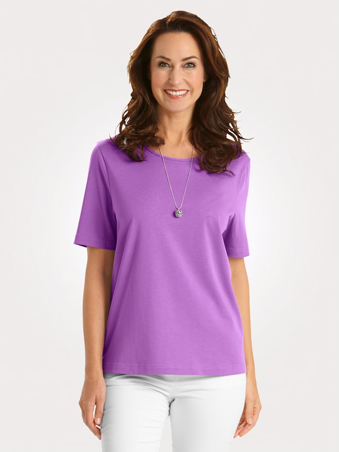 MONA Top made from Pima cotton, Purple