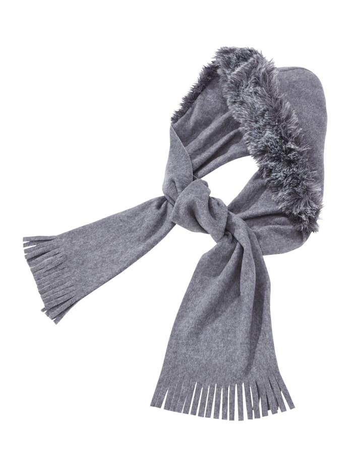 Faustmann Sjaal met capuchon, Grijs