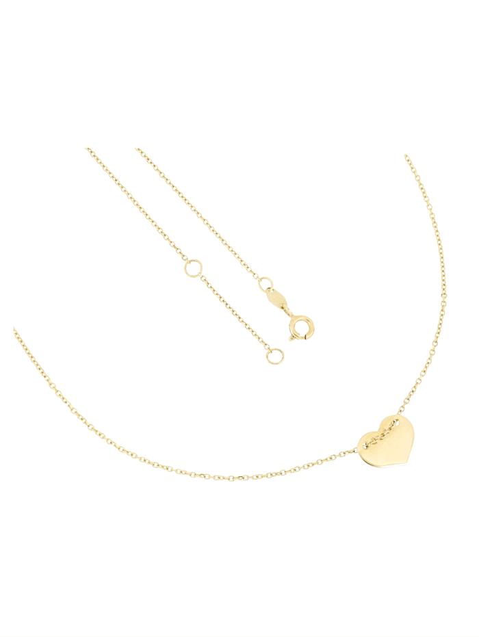 Grazielli Halsband med hjärta, Guldfärgad