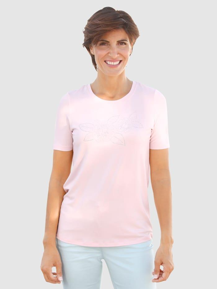 Shirt met steentjesapplicatie