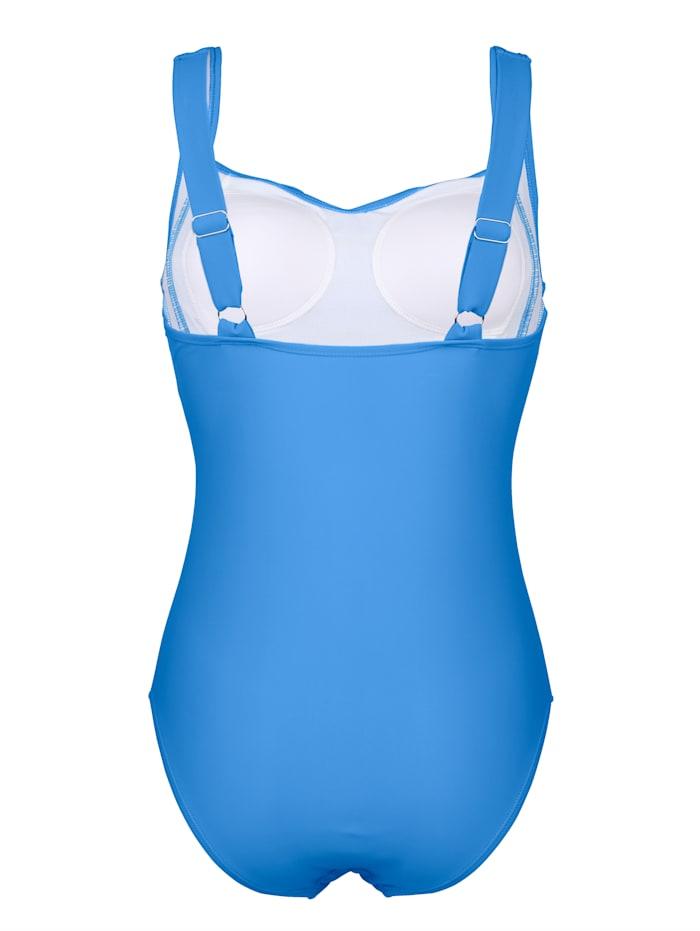 Badeanzug mit modischen Raffungen im Brustbereich