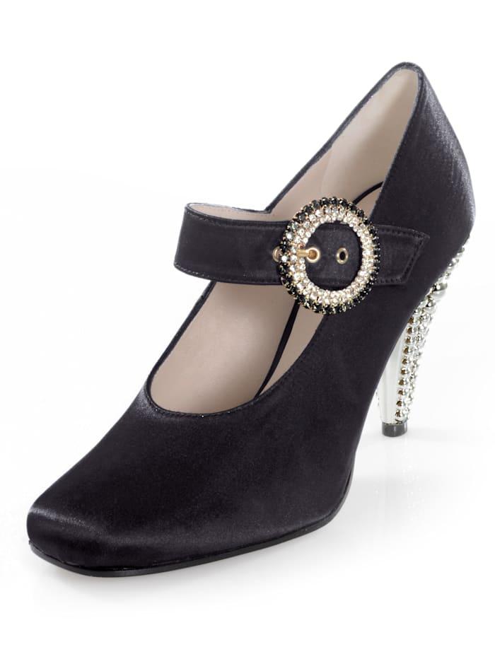 Alba Moda Pump met extravagante naaldhak, Zwart