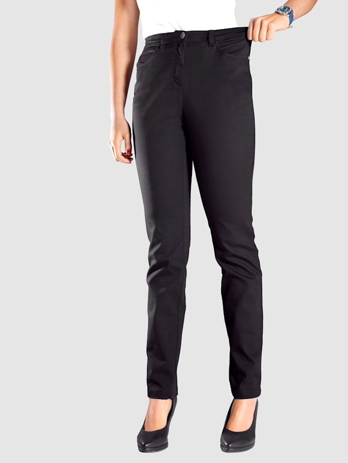 MIAMODA Pantalon à taille extensible, Noir