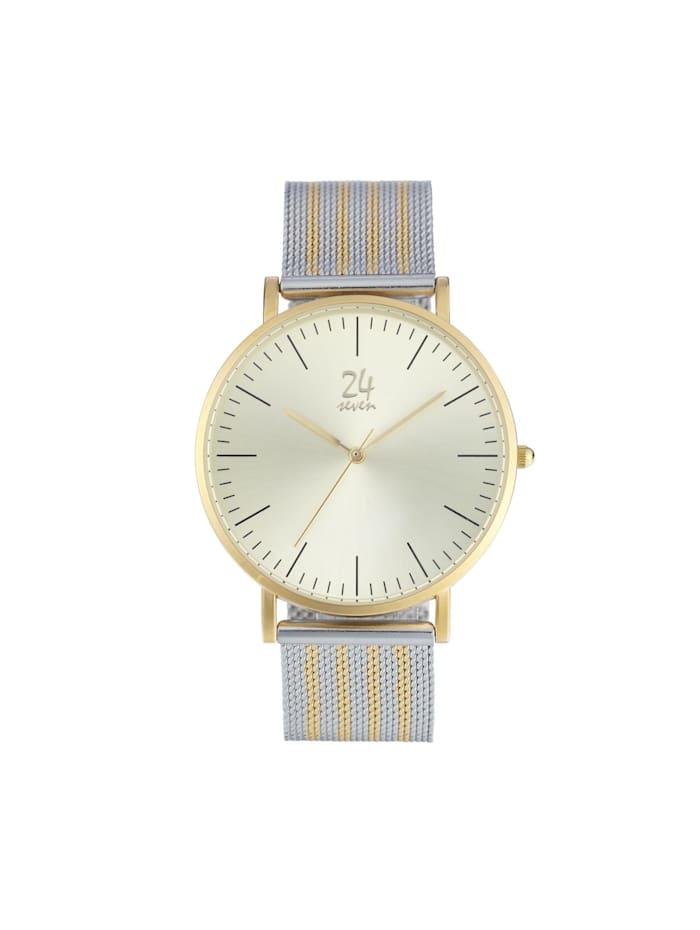 POOLS Armbanduhr, Silberfarben