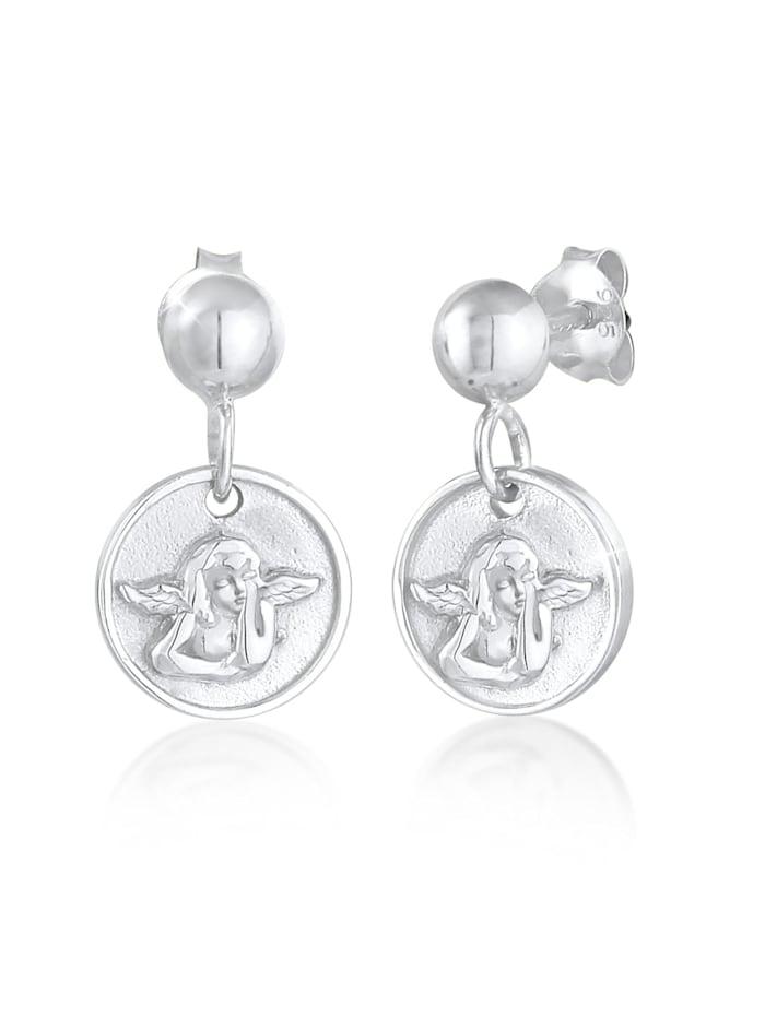 Elli Ohrringe Ohrhänger Stecker Plättchen Engel 925 Silber, Silber