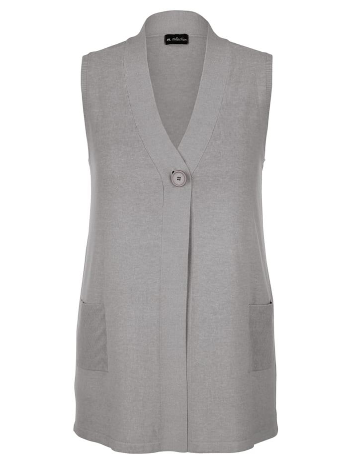 m. collection Mouwloos vest Met een knoop te sluiten, Grijs
