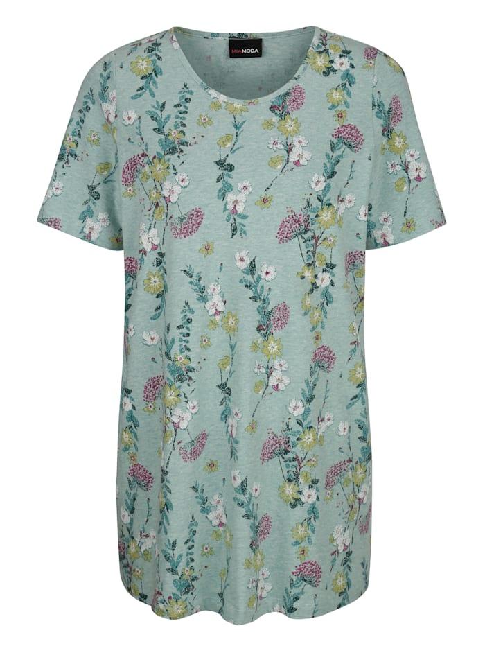 Longshirt met bloemenprint rondom