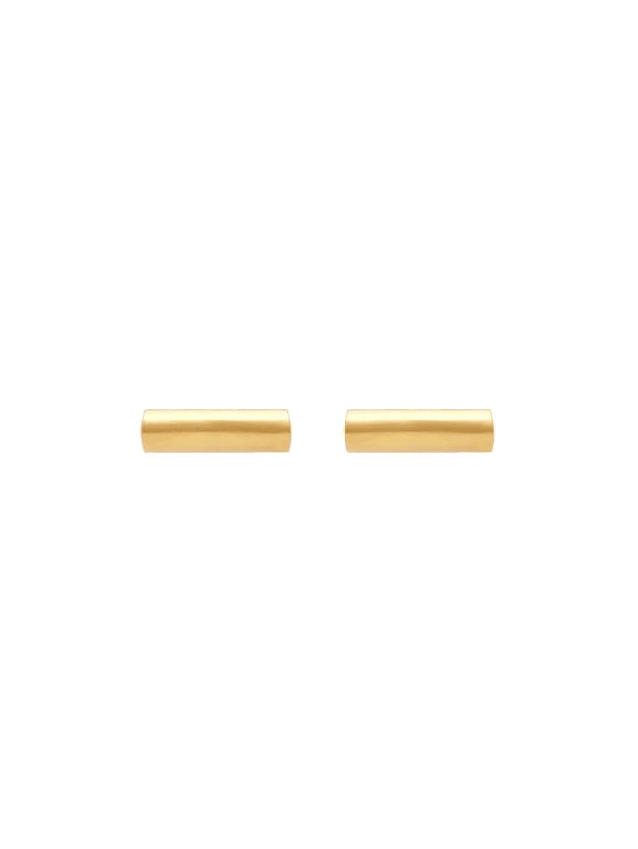 Ohrringe Stecker Geo Stift Minimal Trend Edgy 585 Gelbgold
