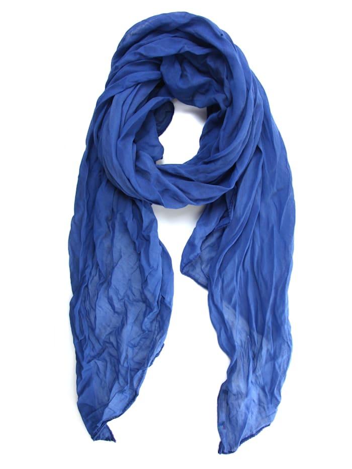 Collezione Alessandro Italienischer Schal Unitoo Made in Italy, blau