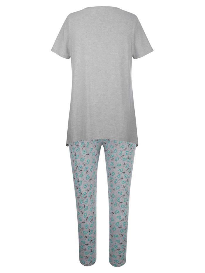 Pyjamas med asymetrisk nederkant