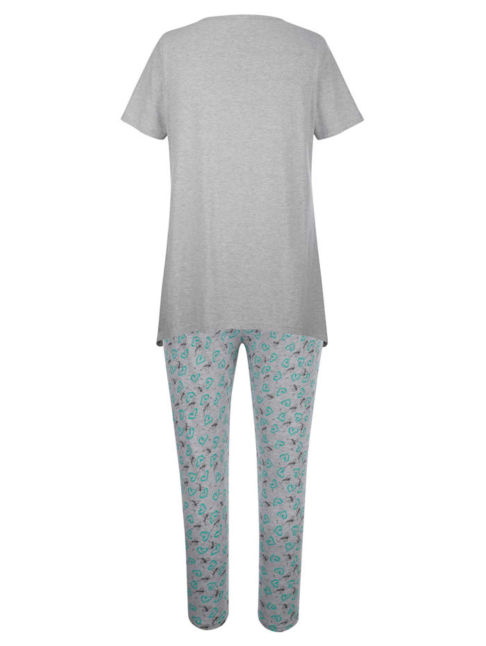 Schlafanzug mit modischem Zipfelsaum