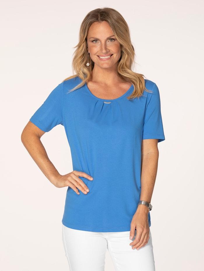 MONA Shirt van fijne jersey, Blauw