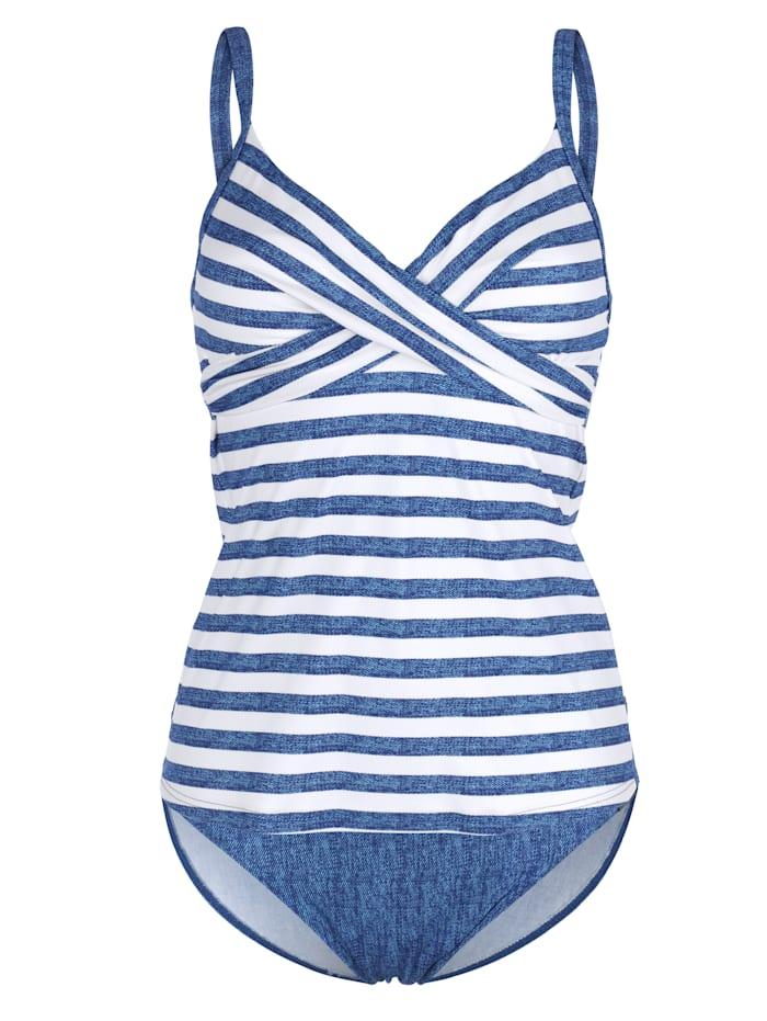Olympia Tankini Tankini im Jeans-Streifenlook, Blau