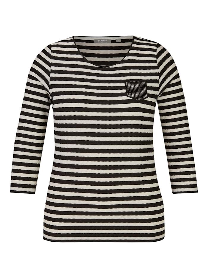 Shirt mit Allover-Ringeln und Nieten