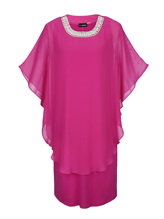 Kleid mit Chiffon Überzug