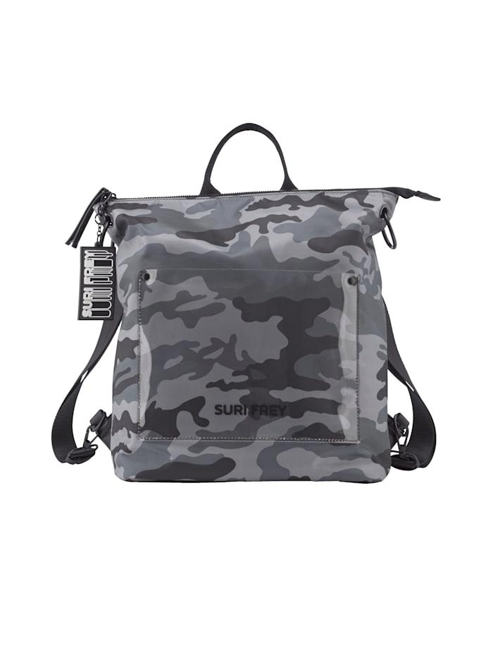 SURI FREY Ryggsäck som kan bäras på olika sätt 2 delar, blå kamouflage