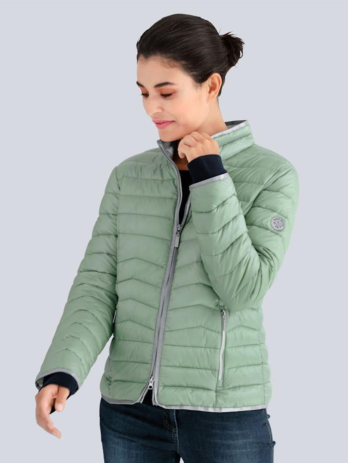 Alba Moda Steppjacke mit GREEN GOOSE Ausstattung, Salbeigrün