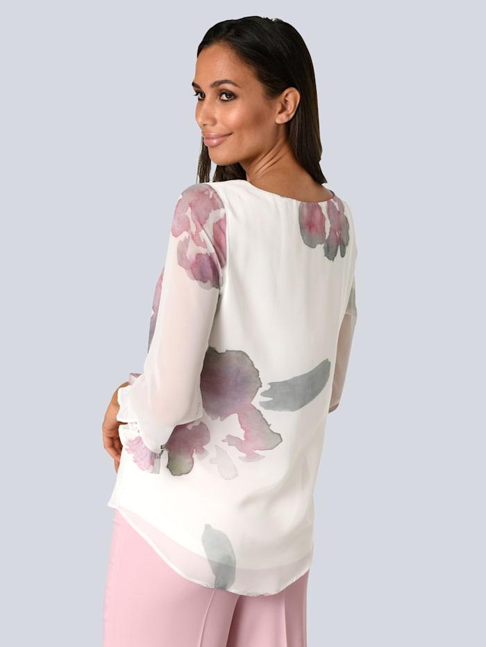 Bluse mit femininem Volantdetail an den Ärmeln