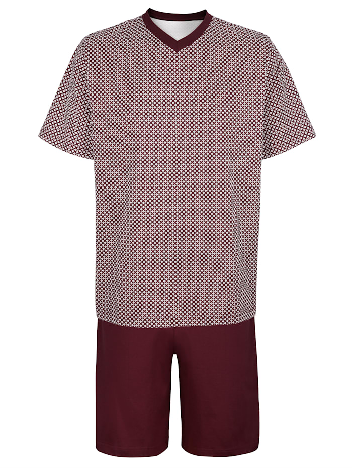BABISTA Pyjamas, vinrød/hvit