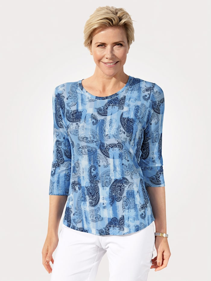 Rabe Tričko s Paisley vzorem, Modrá/Námořnická