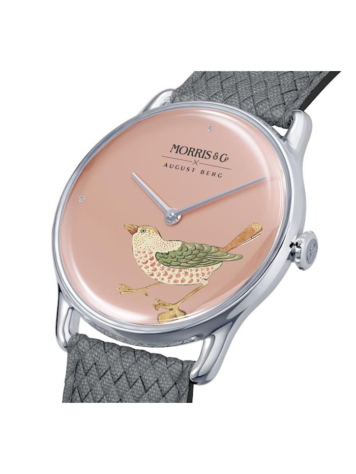 Uhr MORRIS & CO Silver Bird Grey Perlon 38mm