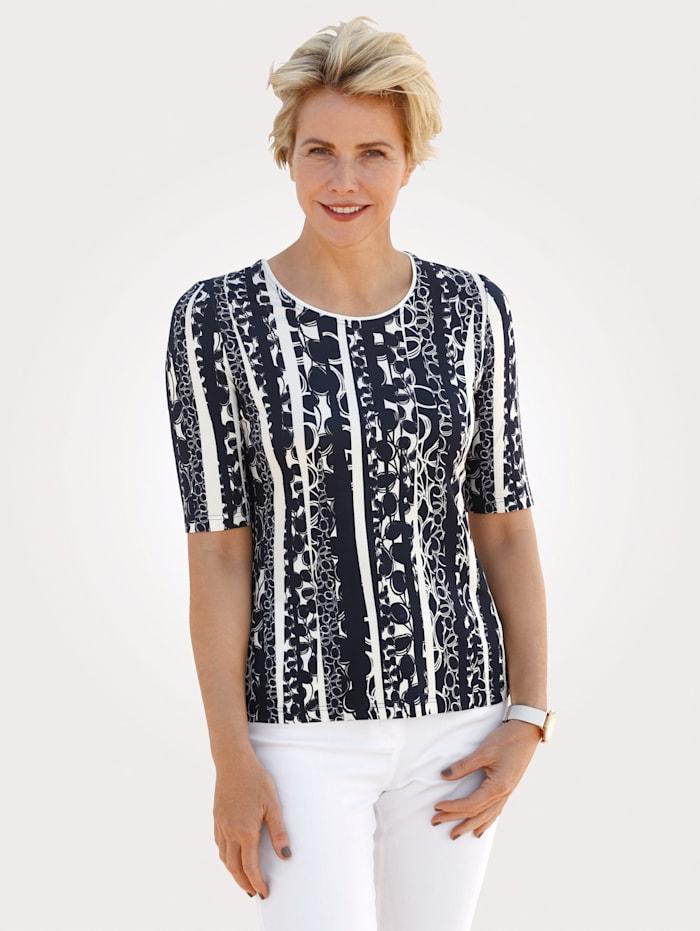 Barbara Lebek T-shirt, Marine/Blanc
