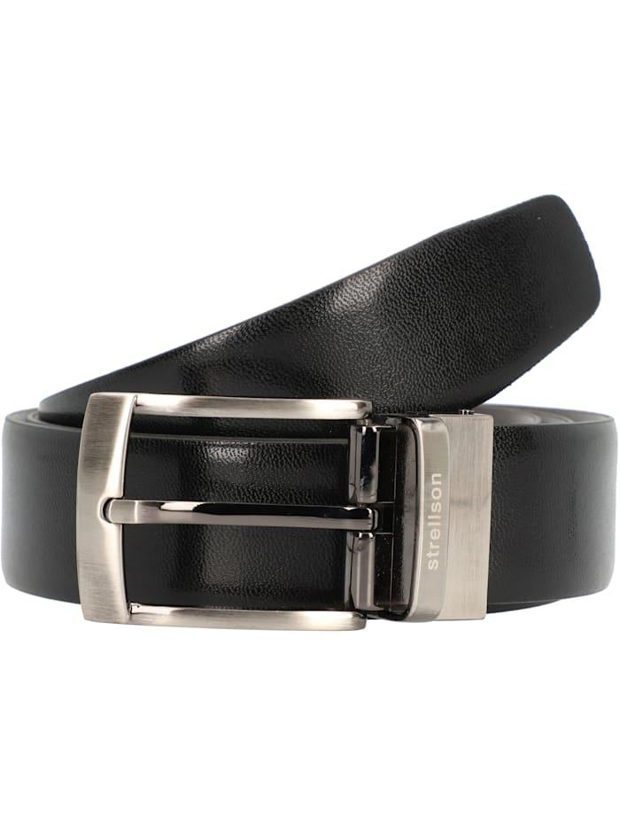 Strellson Premium Wendegürtel Leder, schwarz