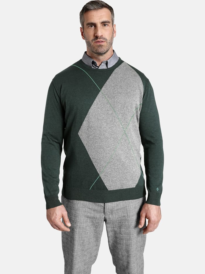 Charles Colby Charles Colby Pullover EARL TATE, dunkelgrün