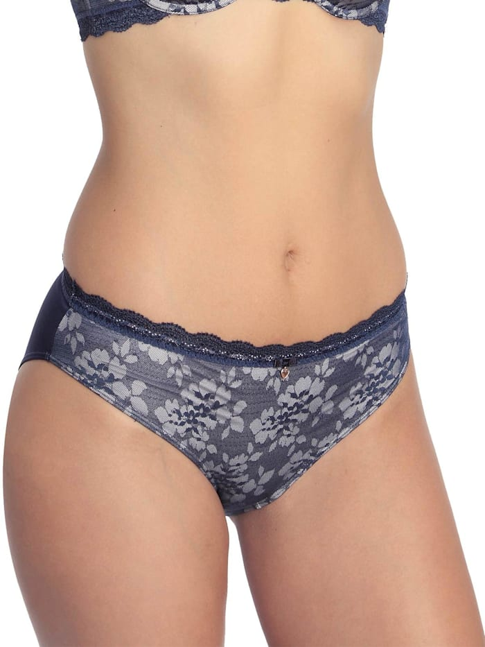 sassa Damen Bikinislip Bloomy Lace, midnight