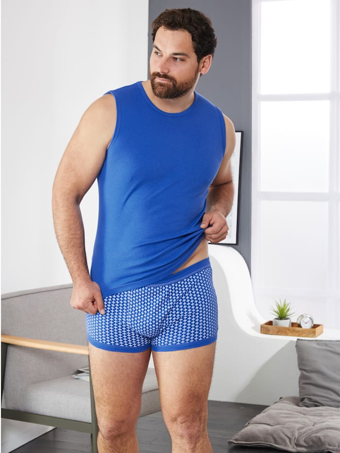Boxershort, 1x royal blue, 1x royal blue/wit