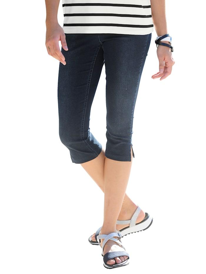 Alba Moda Capribroek met push-upeffect, Donkerblauw