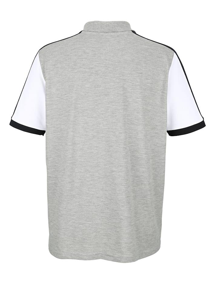 Poloshirt mit Druck und Emblem